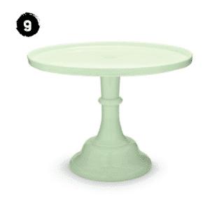 Jade Colored Glass Pedestal Stand Modern Farmhouse Spring Decor Guide