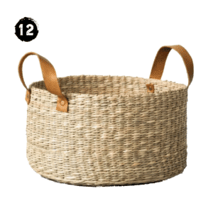 Seagrass Basket with Leather Handle - Medium - Hearth & Hand™ with Magnolia Modern Farmhouse Spring Decor Guide