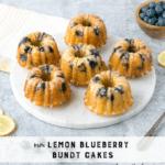 Mini Lemon Blueberry Bundt Cakes