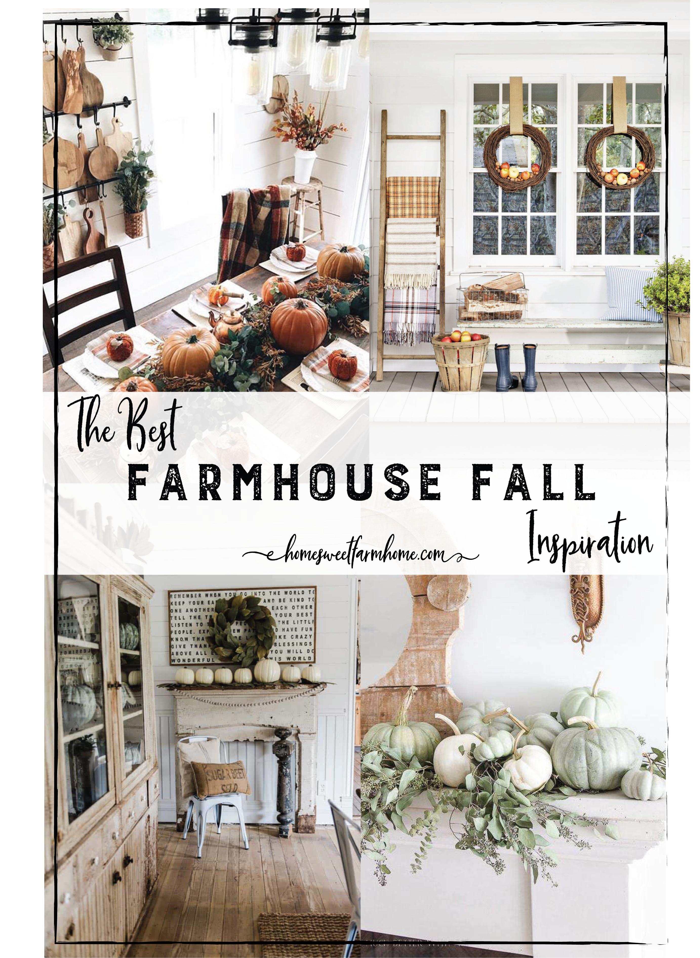 The Best Farmhouse Fall Decor Inspiration
