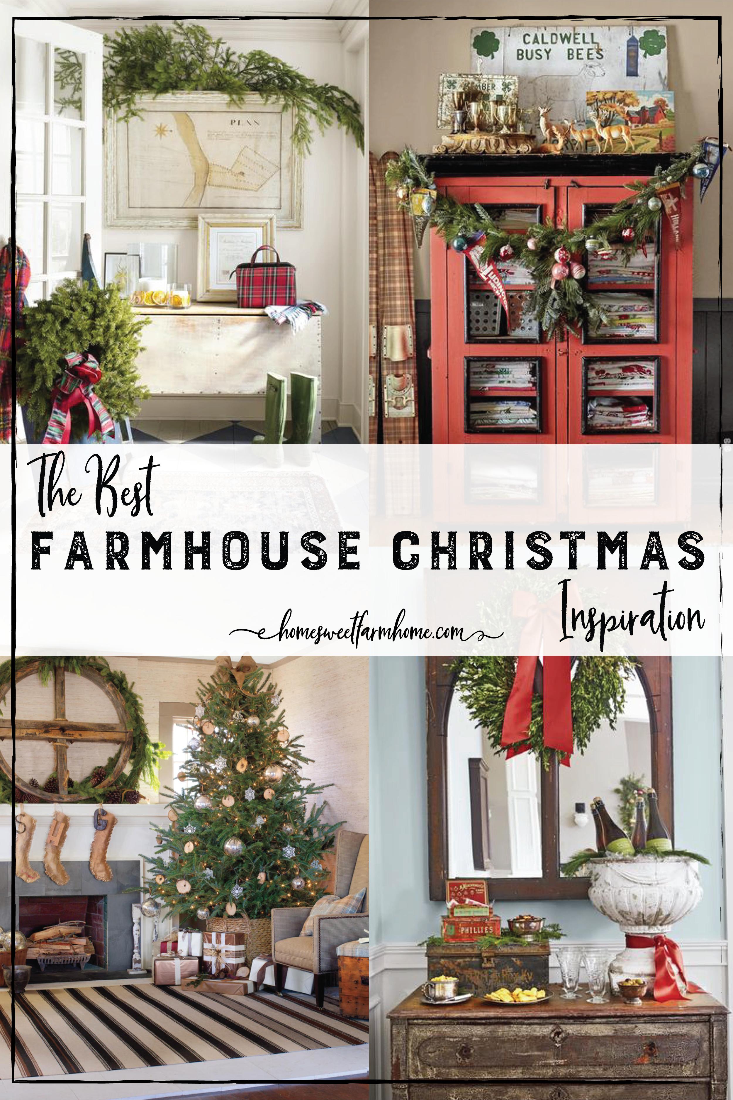 the best farmhouse christmas decor