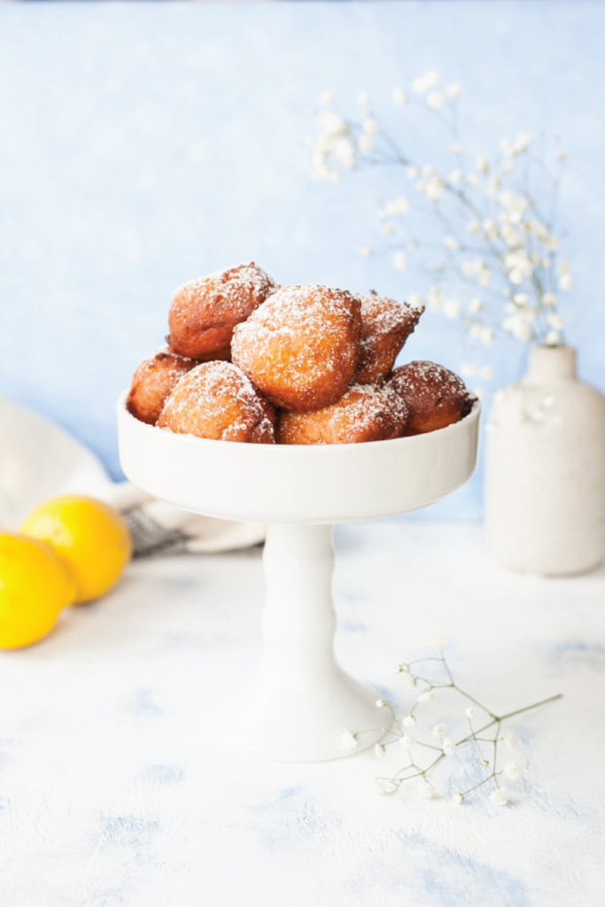 Lemon Ricotta Doughnuts