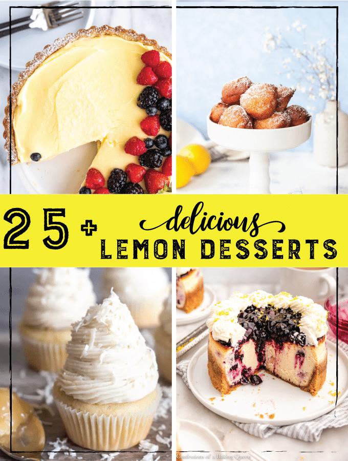 25+ Delicious Lemon Desserts