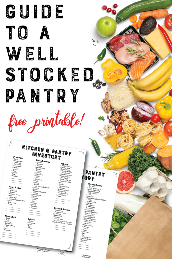 Guide to a Well Stocked Pantry & Kitchen