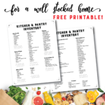Kitchen & Pantry Inventory with Free Printable