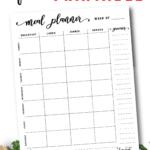 Free Meal Planner Printable