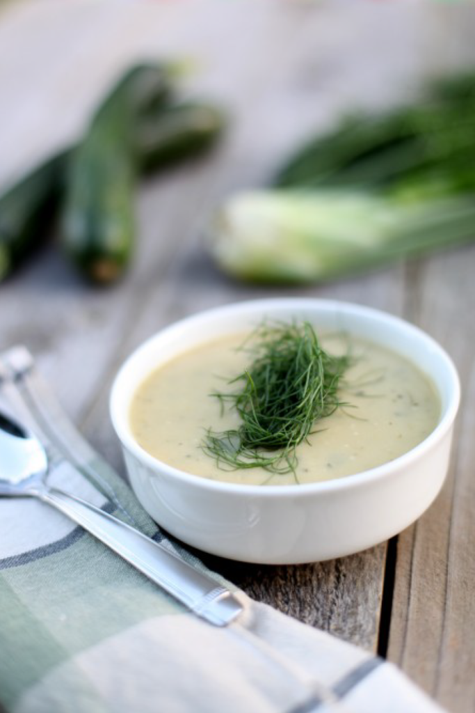 Roasted Zucchini and Fennel Soup Recipe