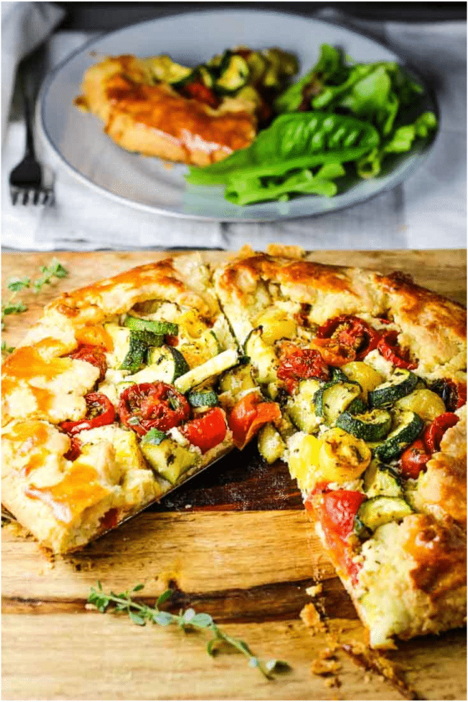 Zucchini and Tomato Tart with Whipped Feta [Savory Galette]