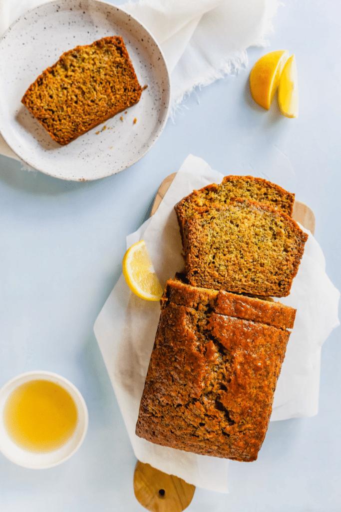 Healthy Lemon Poppy Seed Zucchini Bread