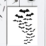 Watercolor Bats Free Printable