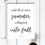 All at Once Free Fall Printable