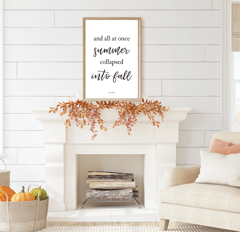 All at Once Summer Collapsed Into Fall Free Fall Farmhouse Printables