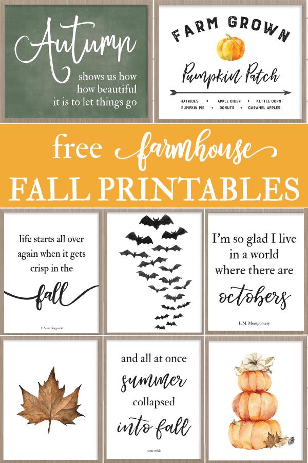 Free Fall Farmhouse Printables