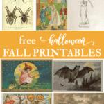 Free vintage halloween fall wall art