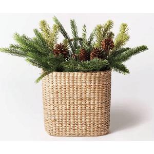 Target Farmhouse Christmas Décor Basket with Pine