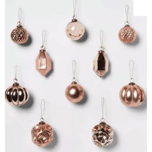 Target Farmhouse Holiday Décor Glam Ornaments