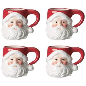 Amazon Farmhouse Christmas Décor Vintage Santa Mugs