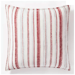 Target Farmhouse Holiday Décor Striped Red Pillow