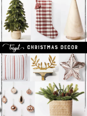 Target Christmas Décor Collage