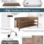 classic white farmhouse kitchen mood board