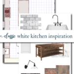 classic white kitchen design board