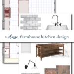 Classic White Farmhouse Kitchen Design Board