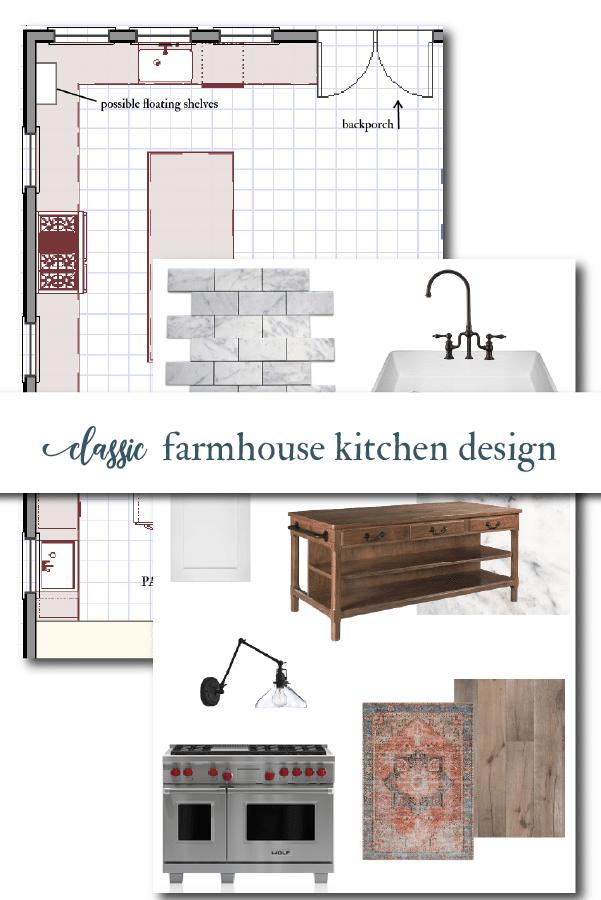 classic white kitchen mood board
