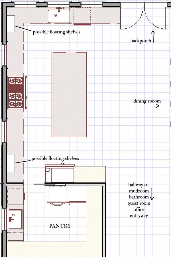classic white farmhouse kitchen layout design