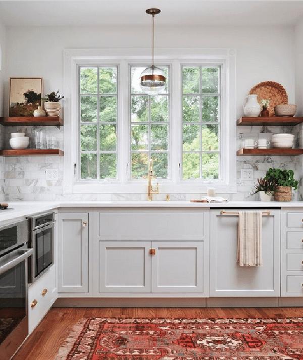 classic white farmhouse kitchen design inspiration