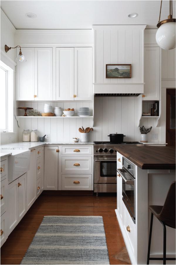 classic white farmhouse kitchen inspiration design board