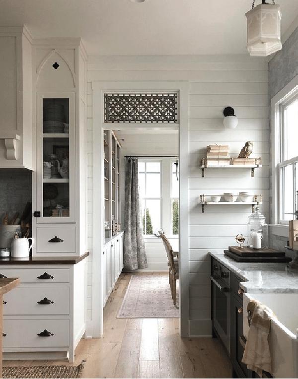 classic white kitchen inspiration design board
