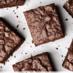 Nutella Brownie Squares Close Up Title PAge