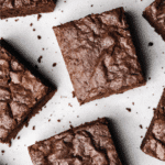 Nutella Brownie Squares Close Up