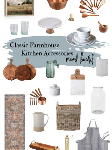 Classic Farmhouse Kitchen Decor Mood Board