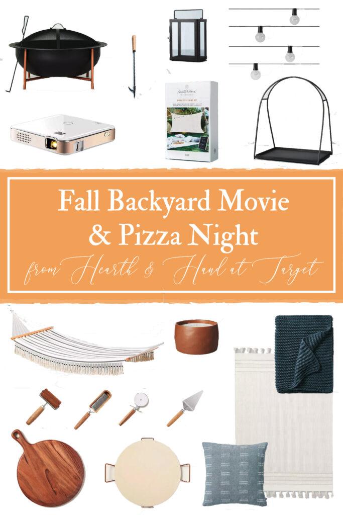 Fall Backyard Movie & Pizza Night