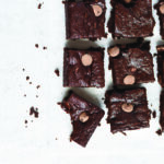 Zucchini Almond Butter Brownies with bite